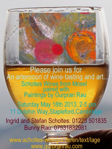 Art and wine at Scholtes, Cambridge 2012